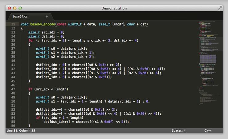 Sublime Text 3 Beta Web-Development Tool