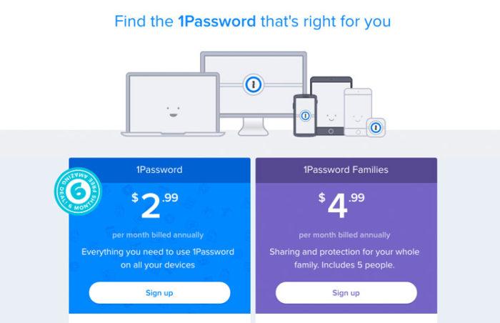 1Passwort Passwort-Manager Preise