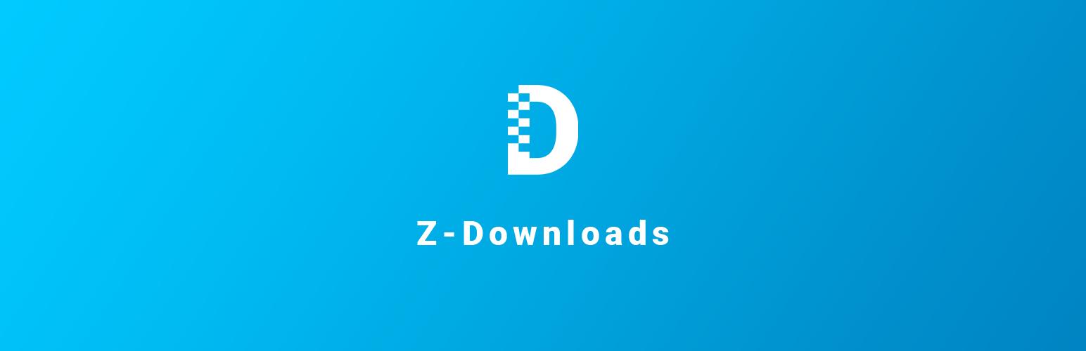 Z-Downloads WordPress Download Manager Plugin Banner