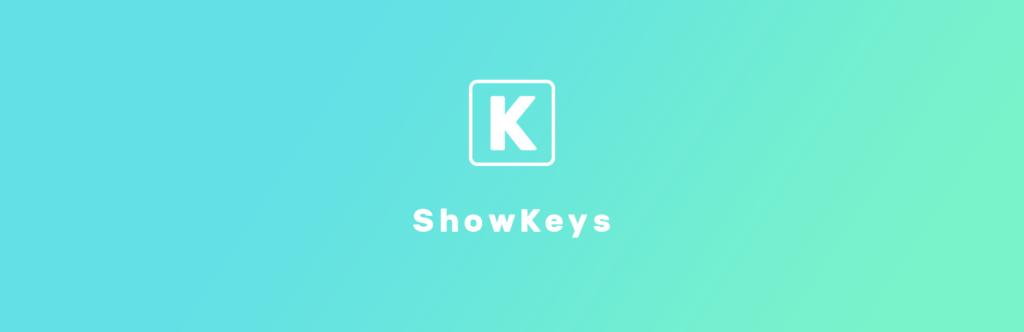 ShowKeys WordPress Plugin Banner