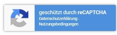 reCAPTCHA v3 Hinweis